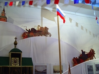 «Festive Square» exhibition (traditional Russian shows and entertainment) from the collection of the State Central Theatre Museum named after A.A. Bakhrushin to commemorate the 110th anniversary of the Museum