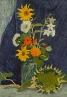 Still-life with a sunflower